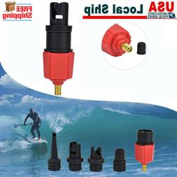 4 Nozzles Sup Pump Adapter Inflatable Boat Air Valve Adaptor