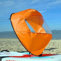 42'' Foldable Downwind Wind Paddle Popup Board For Canoe Kay