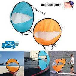 42'' Foldable PVC Downwind Wind Paddle Popup Board For Canoe
