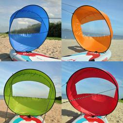 """42"""" Popup Downwind Rowing Kayak Wind Sail Boat Paddle Clear"""