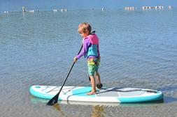 """7'6"""" Youth Inflatable Stand Up Paddle Board ISUP w/Carry Bag"""