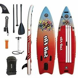 9' Inflatable Stand-Up Paddle Board ISUP - Sail Fin WASTEL