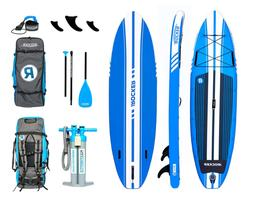 iROCKER All-Around Inflatable Stand Up Paddle Board 11' Long