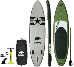 Atoll Army Green 11 foot Inflatable Stand Up Paddle Board