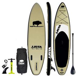 Atoll 11' Foot Inflatable Stand Up Paddle Board 6 Inches Thi
