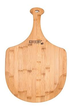 Premium Bamboo Extra Large Wooden Pizza Peel Paddle and Cutt