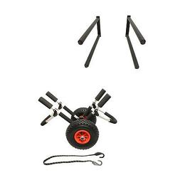 Boat Dolly Cart Boat Carrier & 2 Paddleboard Wall Mount Rack
