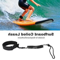Bodyboard Surfboard Ankle Leash Sling Cord Coiled Stand Padd