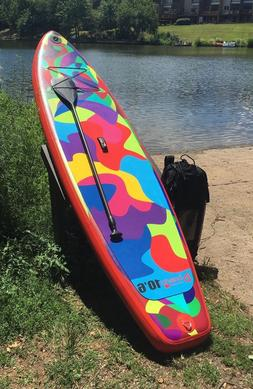 Boierto 10'6'' Inflatable SUP Stand Up Paddle Board Package,