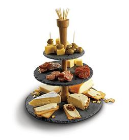 Boska Holland 359007 Cheese Tower, 3 Tier Serving Tray, Slat