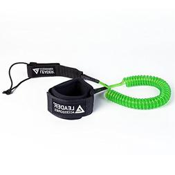 Leader Accessories 11' Coiled SUP Leash Super Strong 7.2mm U