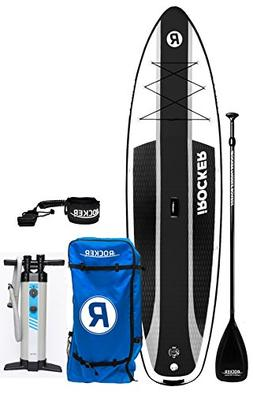 "iROCKER Cruiser Inflatable Stand Up Paddle Board 10'6"" Long"