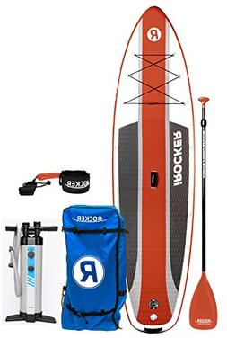 """iROCKER Cruiser Inflatable Stand Up Paddle Board 10'6"""" Long"""