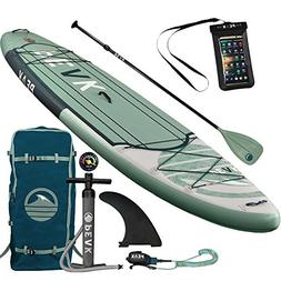 Peak 11' Expedition Inflatable Stand Up Paddle Board | 6""