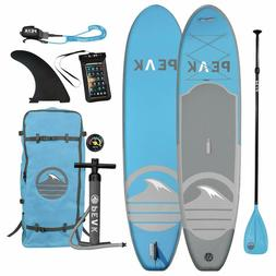 Peak Expedition Inflatable Stand Up Paddle Board with Adj Pa