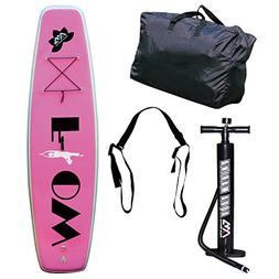 "FLOW 9'9"" Yoga Stand Up Paddle Board with Paddle"