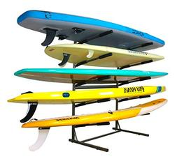 Stoneman Sports 5 SUP Freestanding Storage Rack Paddleboards