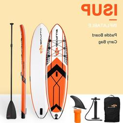 Goplus 10.5' Inflatable Stand Up Paddle Board SUP W/ Fin Adj