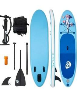 Goplus 10' Inflatable Stand Up Paddle Board SUP W/ Fin Adjus