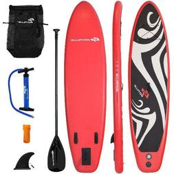 Goplus 10' Inflatable Stand up Paddle Board Surfboard SUP W/