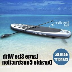 Goplus 10' Inflatable Stand Up Paddle Board SUP w/ 3 Fins NE