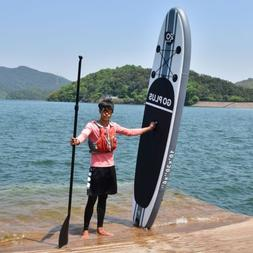 Goplus 10ft Inflatable Stand Up Paddle Board w/ 3 Fins Surfb