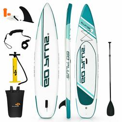 Goplus 11' Inflatable Stand up Paddle/Surf Board Water Sport