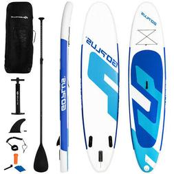 Goplus 11Ft Inflatable Stand Up Paddle Board 6'' Thick W/Bac