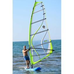 Inflatable 0.9mm PVC 12ft. SUP Sailboat Windsurfing Paddle S