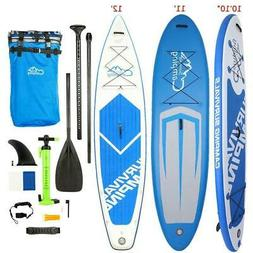 "Inflatable 10'10""/11'/12' Stand Up Paddle Board 2 in 1 Kayak"