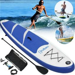 Inflatable 10' SUP Stand Up Paddle Board Paddle Pump & Bag F