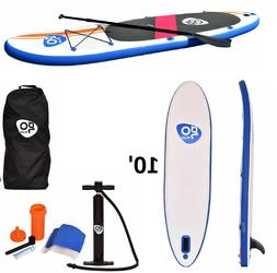 Inflatable Paddle Board Wave Edge 10 Foot Stand Up SUP With