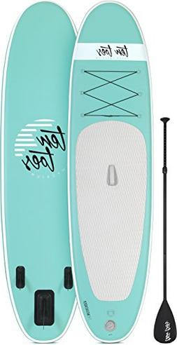 Ten Toes Inflatable Stand Up Paddle Board Bundle, Seafoam -