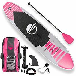 SereneLife Premium Inflatable Stand Up Paddle Board  with SU