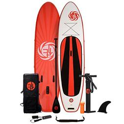 JLF New! 11 ft Inflatable Stand Up Paddle Board  Includes Fi