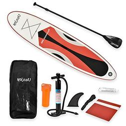 Uenjoy 10' Inflatable Stand Up Paddle Board  Non-Slip Deck A