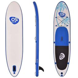 Inflatable Stand-Up Board 11 Blue Goplus Adjustable Paddle F