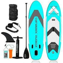 """CalmMax Inflatable Stand Up Paddle Board - 10'6""""×32""""×6"""" Po"""