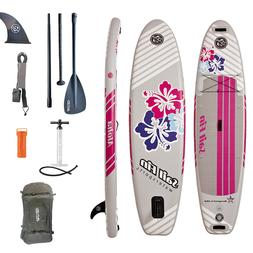 Inflatable Stand Up Paddle Board 10' SUP Kit  -  1-Year Limi
