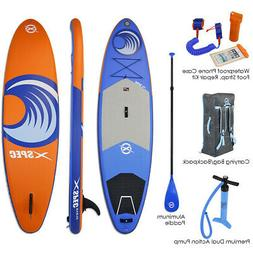 "Xspec Inflatable Stand Up Paddle Board 10'x32""x6"", Blue & Or"
