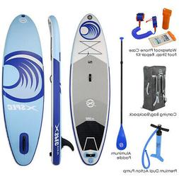 """Xspec Inflatable Stand Up Paddle Board 10'x32""""x6"""", Blue/Whit"""
