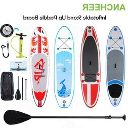 Ancheer 10'  Inflatable SUP Stand Up Paddle Board Package Su