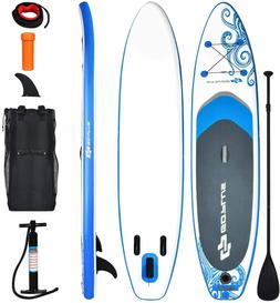 """Goplus Inflatable Stand Up Paddle Board, 6.5"""" Thick SUP wi"""