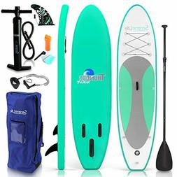 SereneLife Inflatable Stand Up Paddle Board  with Premium SU