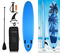 Inflatable Stand Up Paddle Board 9.8 Foot SUP Kayak Blue Sur
