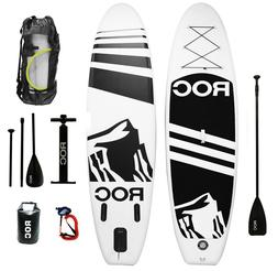 Inflatable Stand Up Paddle Board by Roc Paddleboards W FREE/