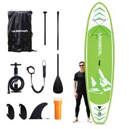 Famistar  Inflatable Stand Up Paddle Board SUP w/ 3 Fins, Ad