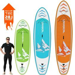 Famistar Inflatable Stand Up Paddle Board SUP w/ 3 Fins, Adj