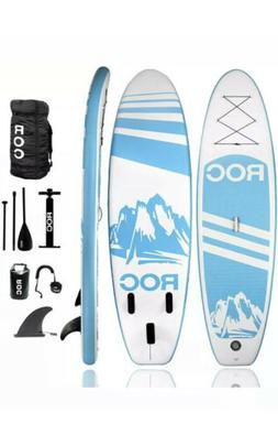 Roc Inflatable Stand Up Paddle Board with Accessories Backpa
