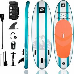 ROC Inflatable Stand Up Paddle Board w/Free Premium SUP Acce